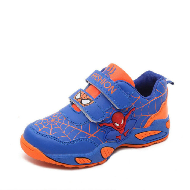 2016 New Autumn Breathable Spiderman Kids Fashion Sneakers Child Breathable Student Girls Sports Shoes for boys Chaussure Enfant