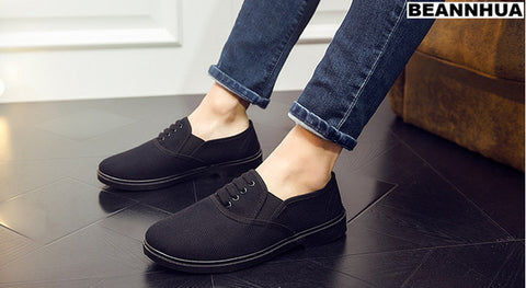 BEANNHUA Brand Black Men Light Casual Shoes  available size 39-43 number 003