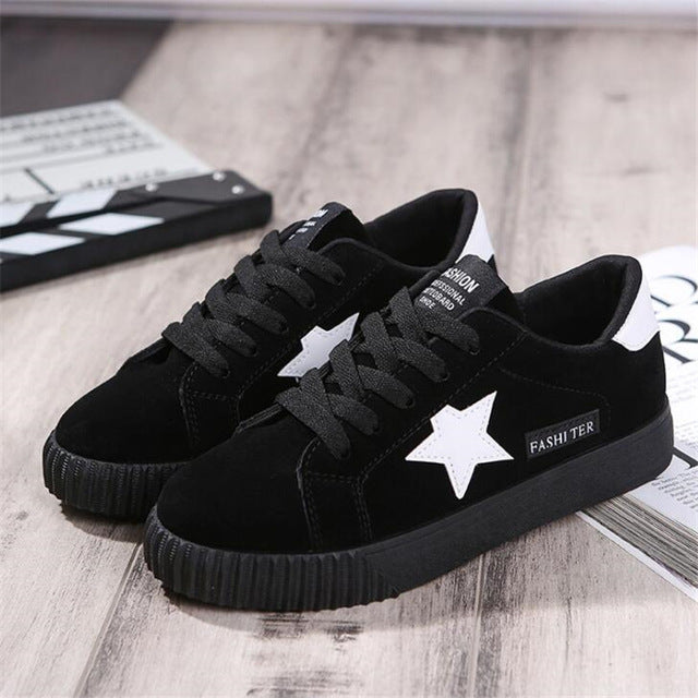 LANSHITINA Fashion Women Casual Shoes 2017 Spring Autumn Comfortable Women Shoes For Platform Shoes Pink black Red Chaussure