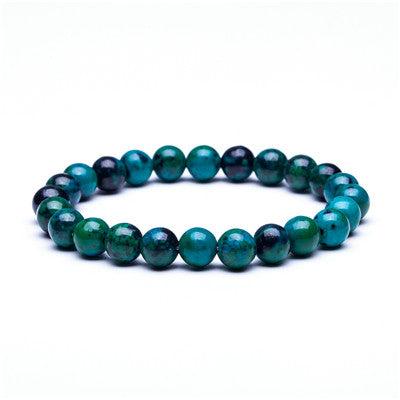 Natural Stone Beads Bracelets High Quality Tiger Eye Buddha Lava Round Beads Elasticity Rope Bracelets for women & men jewelry
