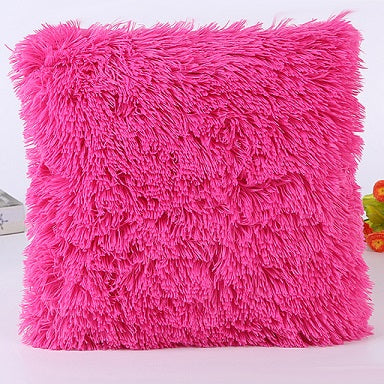 Soft Plush Faux Fur Wholesale Decorative Cushion Pillowcase Throw Pillow For Sofa Car Chair Hotel Home Decoration 7A0193
