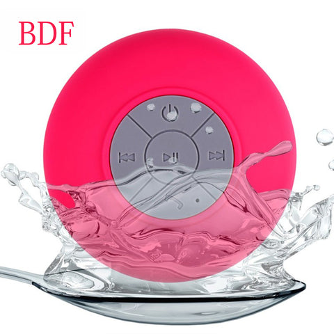 BDF Portable Mini Shower Waterproof Wireless Bluetooth Speaker Subwoofer Car Hands-free Call Music speaker  Mic For mobile Phone