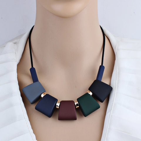 ROXI Women Necklace Statement Sweater Chain Necklaces & Pendants Colorful Beads Choker Necklace For Women Collier Femme Jewelry