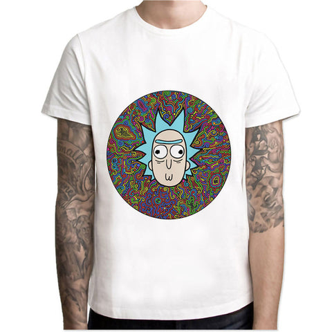 Pickle Rick And Morty trippy psychedelic funny T shirt men Hip Hop anime cartoon Rick y Morty T-shirt Fashion male tshirt tees