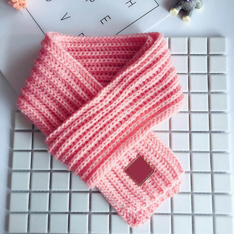 Cute pom poms Striped winter scarf kids pompom baby scarf warm neck warmer scarves for children,echarpe foulard