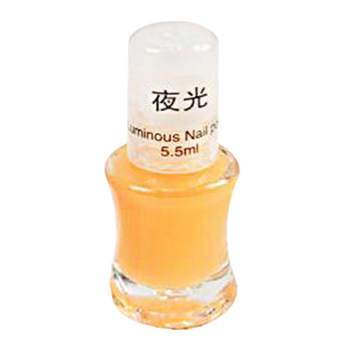 1 Bottle 5.5 ML Fashion Color Luminous Nail Polish Fluorescent Luminous Nail Polish Dark Shiny Nail Polish