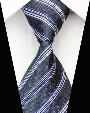 "Business Work Tie for Men Suit Necktie Skinny Slim Narrow Man Silk Jacquard Ties Striped Blue Black Red Wedding Gravata 3""/7.5cm"