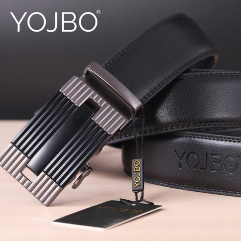 YOJBO Men Belt Luxury Leather Male 2017 Fashion Luxuvry Designer Brand High Quality Waist Strap Automatic Buckle Belts for Men