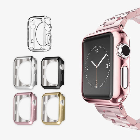 For Apple Watch Series 2/3 TPU Scratch-resistant Flexible Soft Case Slim Lightweight Protective Bumper Cover iWatch Accessories