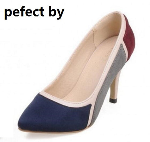 zapatos mujer girls sexy pointed toe high heels women pumps ladies wedding shoes woman sapato feminino chaussure femme PL17046