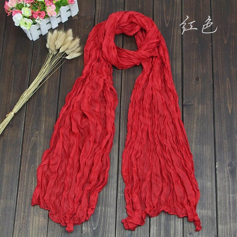 New Fashion 2018 Women Scarf Vintage Ladies Solid Color Black Red White Scarves Warp shawl female bufanda mujer