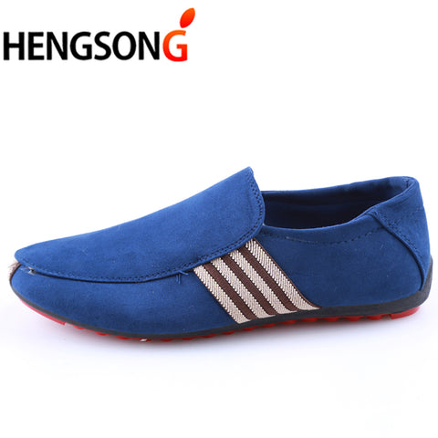 HENGSONG Brand Fashion Summer Style Soft Men Peas Loafers High Quality Shoes Men Flats Gommino Driving Shoes New RD915405