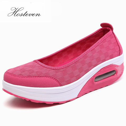 2017 Summer Spring Ladies Casual Women Sneakers Shoes Flats Chaussure Shoes Platform Breathable Mesh Platform Shoe