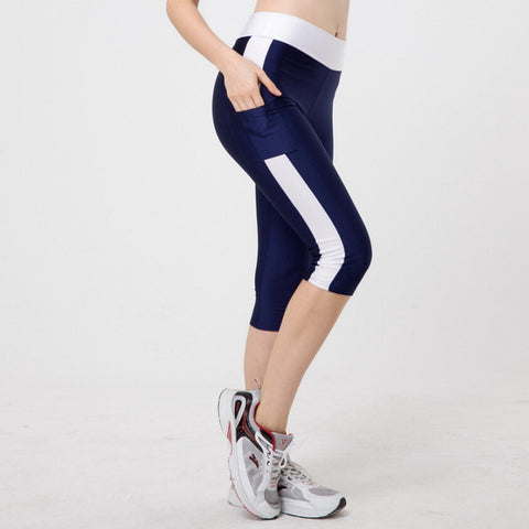 5XL Women Sexy Side Pocket Striped Leggings Fitness Capri Pants Reflective Leggins Slim 10 Styles Workout Quick-dry Trousers