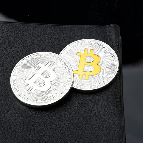 SAE Fortion Silve/ Gold Bitcoin Coin Second Generation Bitcoin coin collectibles Collection Home Craft Bitcoin Dropshipping