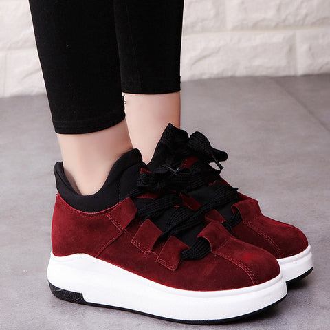 Fooraabo Brand Spring Autumn Platform Sneakers Shoes For Women Comfortable Breathable Casual Shoes Women 2017 Tenis Feminino