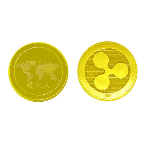 Cryptocurrency Ripple Coin Commemorative Round XRP Ripple Crypto Currency Plated Coin Collectible BitCoin Art Collection Gif