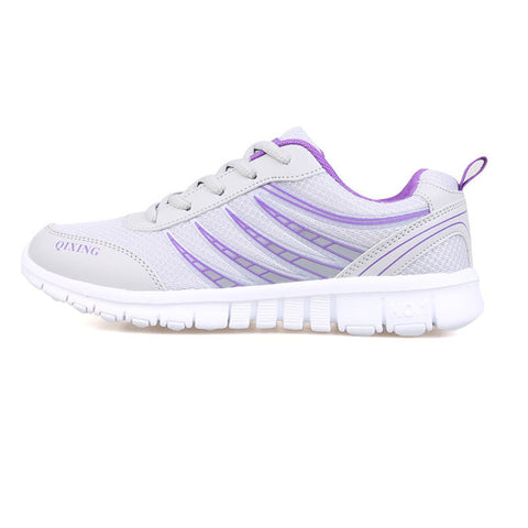2018 Fashion Lace-up Women Casual Shoes Mesh Breathable Shoes Lightweight  women Leisure light sneaker Shoes