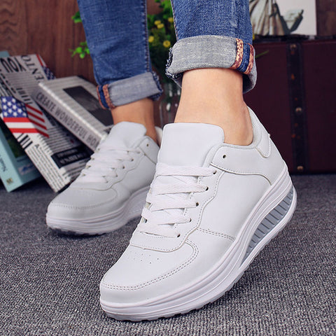Summer Women Sneakers White Black Platform Womens Casual Shoes Ladies Basket Femme Wedges Trainers Zapatillas Deportivas Mujer
