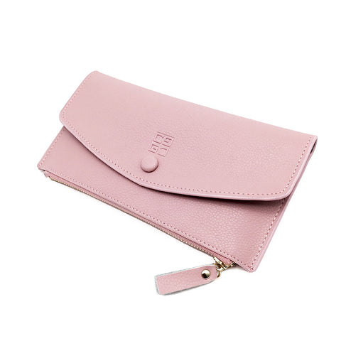 2018 Genuine Leather Women Wallet High Quality Soild Color Long Women Purse Fashion Card Holder Zipper Coin Pockets Female Purse
