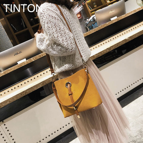 HAOQING New Fashion bags for women 2018 Suede leather tassel bag luxury designer crossbody bags ladies purse female tote gift