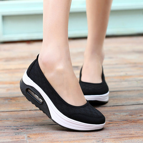 Women Casual shoes 2018 platform solid new arrival summer creepers sapato feminino woman sneaker Walking shoes