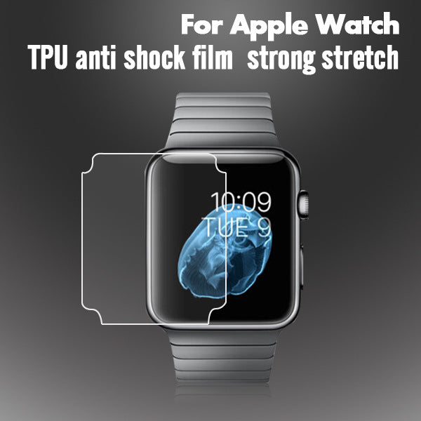 3pc Anti-Scratch TPU Soft Full Coverage Protective Film For iwatch Apple Watch Series 3 2 1 38mm 42mm Screen Protector Cover