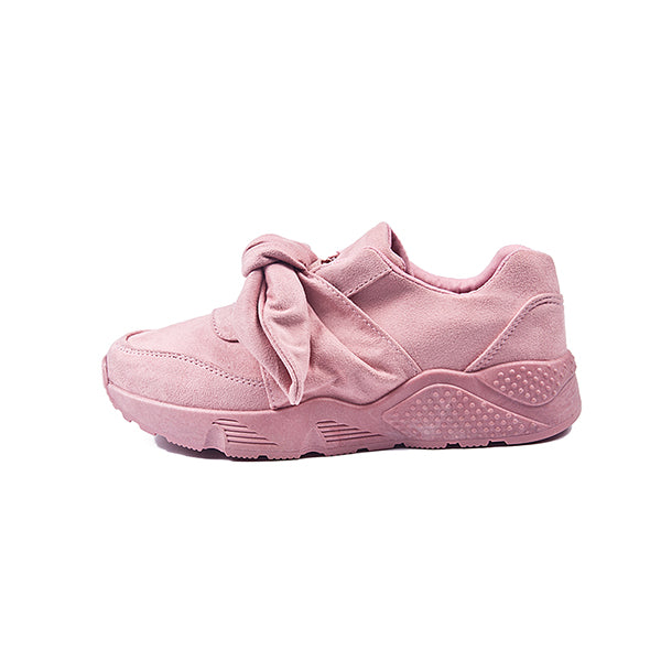 Pink Sneakers Fashion Women Shoes 2018 Spring New Court Style Girl Series Silk Butterfly knot Slip-On Casual Shoes Flat Size 41