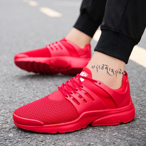 Hot fashion Breathable Leisure Spring Comfortable sneaker Mens casual Shoes adult male Low price Big Size 39-46 Red Black White