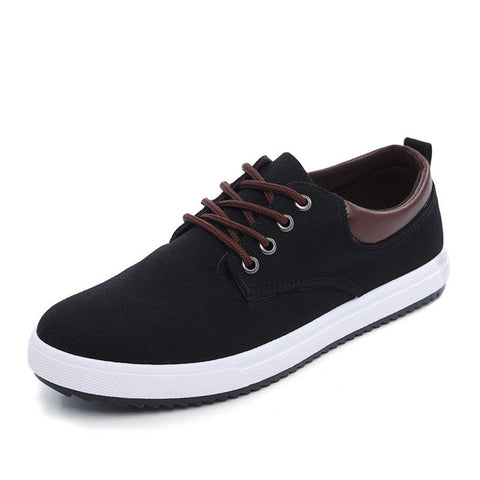 REETENE New Arrival Canvas Shoes For Men Spring Summer Comfortable Casual Shoes Mens Fashion Lace-Up Brand Flat Loafers Shoes