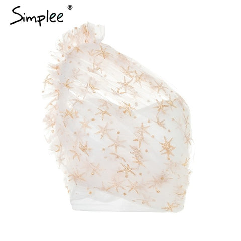 Simplee Sexy  lace lining women tank top tees female Cold shoulder crop top camisole Fashion elegant ruffle pink short cami
