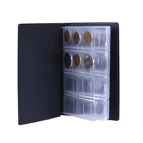 PU Photo Album 120 Coin Collection Holders Storage Penny Pockets Money Album Book Case for Coins Storage Collecting