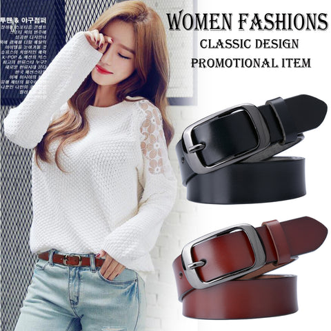 [veroseice] Top Grade Genuine Leather Belt Women Fashion Female Strap Casual Waistband Jeans Women Belt Cow leather cinturones