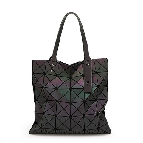 BaoBao Women Handbag Geometric Laser Handbag Women Bag Luminous Bao Bao Tote Female Fashion Briefcase Shoulder Bag Bucket Bag