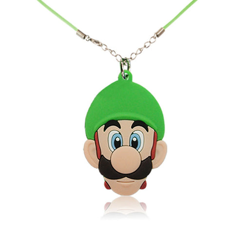 1PCS Mickey Avenger Mario Cartoon Figure Necklace PVC Charm51cm Rope Chain Choker Kid Gift Colar Summer Party Favors Jewelry