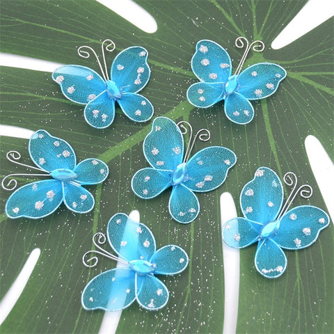 20Pcs Mesh 3D Multicolor PVC Butterfly Wall Stickers For Girl Kids Baby Rooms Kitchen Fridge Wedding Home Decoration