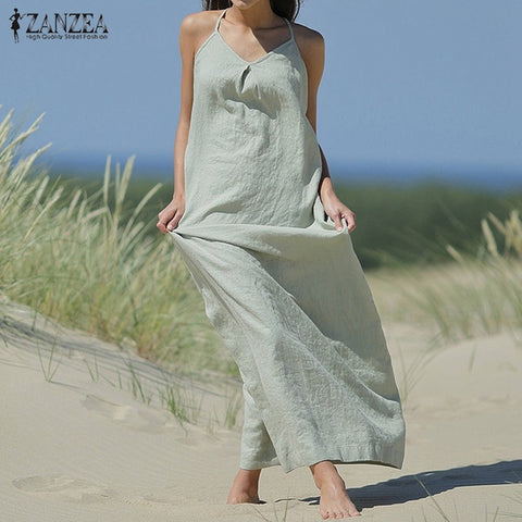 Women Dress Casual Loose Long Maxi