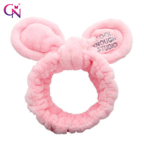 Lovely Elastic Coral Fleece Ears Headband for Women Girls