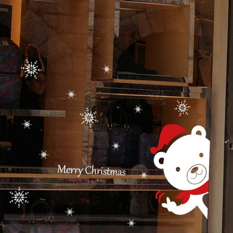 Happy New Year Merry Christmas  Household Room Wall Sticker Mural Decor Decal