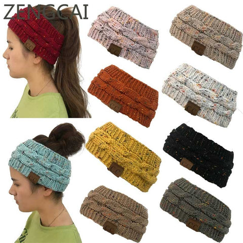 Crotcheted Women Beanie Hat Headwrap