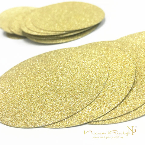 Nicro 100Pcs Christmas Party Wedding Table Decoration Round Gold Glittter