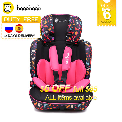 9 Month -12 Years Old Child Car Seat Forward Facing 9-36 kg Five-Point Harness Baby Booster Safety Seats