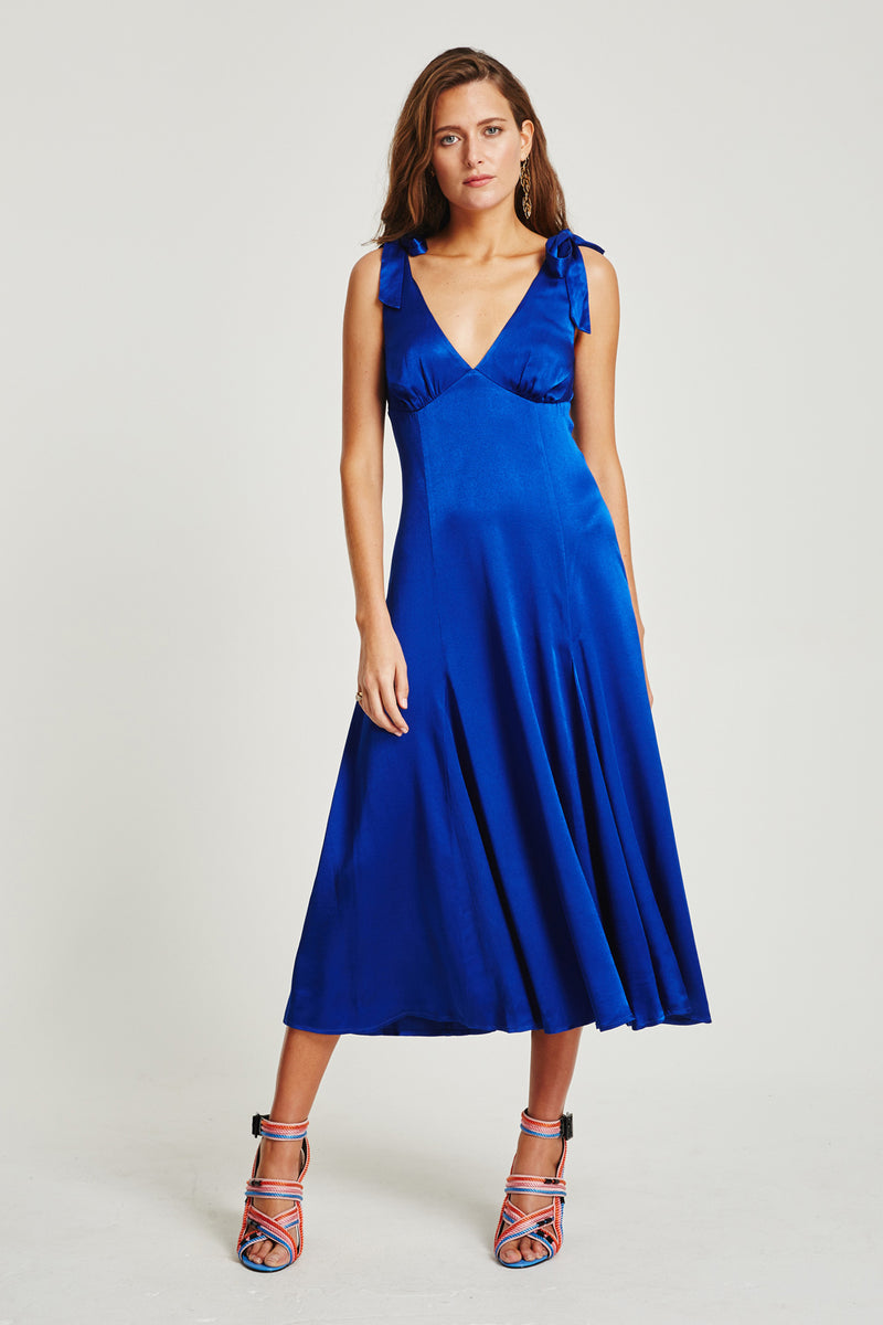 Vestire Online |Tulum Tie Midi Dress| Vestire Clothing