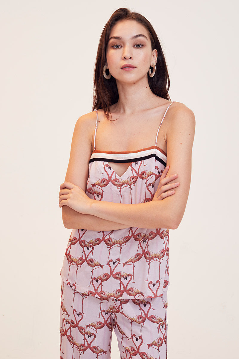 Flamingo Hearts Cami