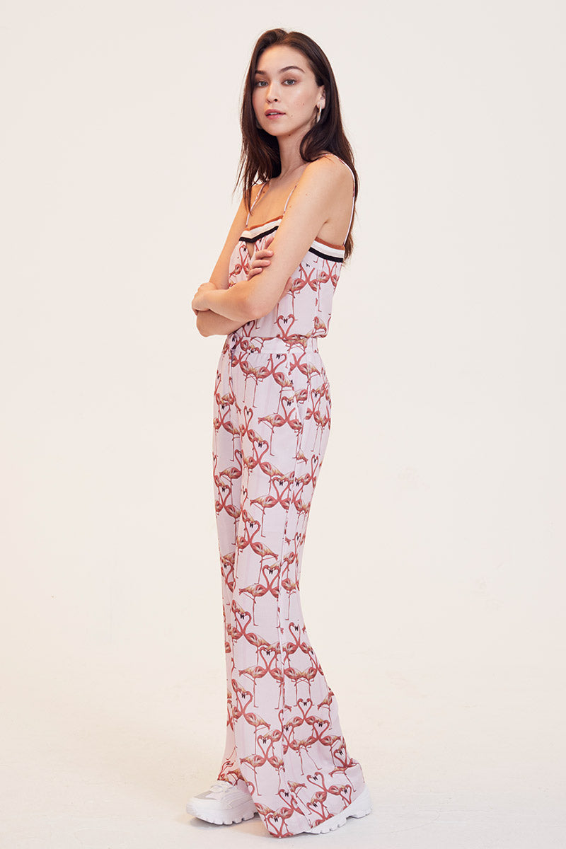 Flamingo Hearts Pants