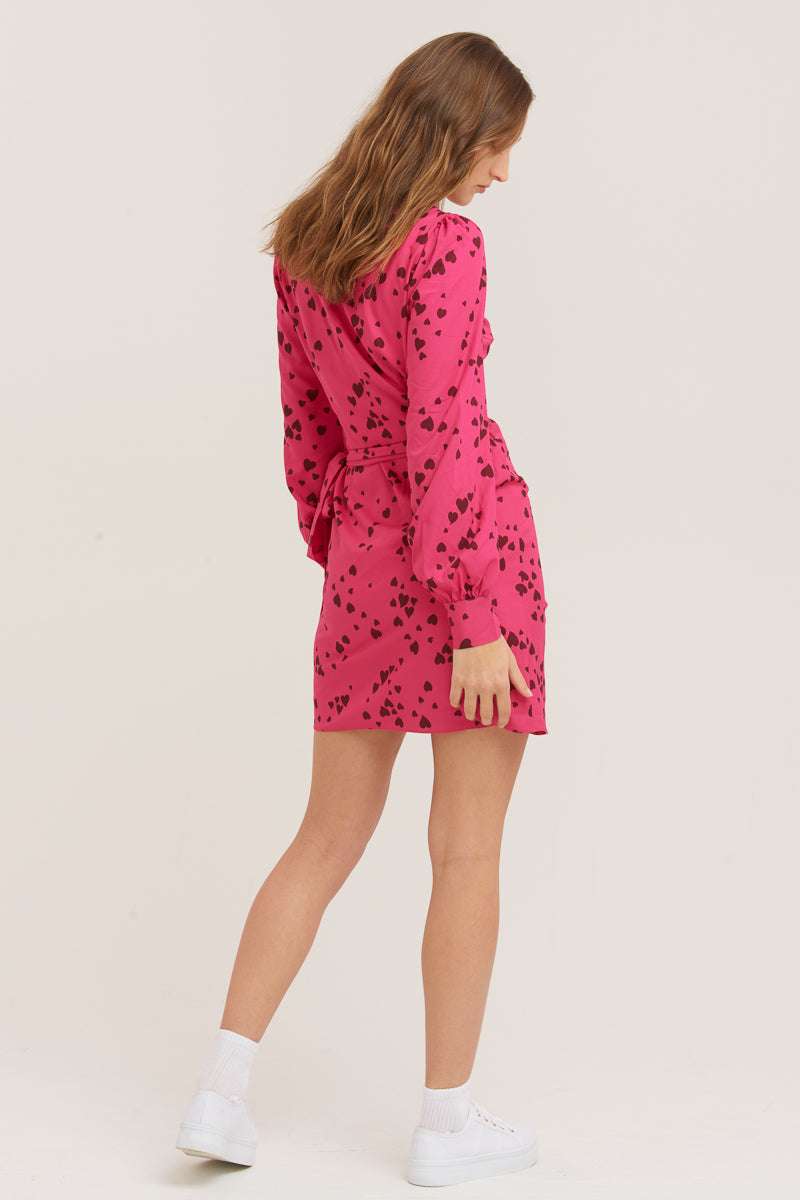 Never Been Kissed Wrap Mini Dress