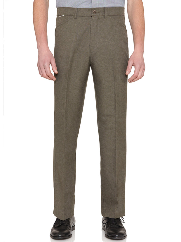 EASY STRETCH TWILL TROUSERS IN DARK OLIVE