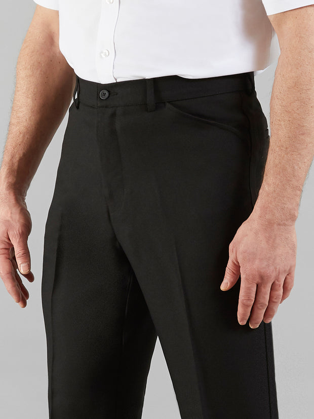 EASY STRETCH TWILL TROUSERS IN BLACK
