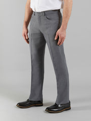 MARL TRADITIONAL ANTI STAIN HOPSACK TROUSERS IN DARK GREY