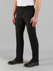 ANTI STAIN HOPSACK TROUSERS IN BLACK